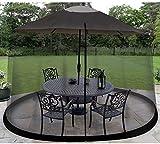 2021 Nueva sombrilla de jardín al aire libre Su sombrilla en una glorieta Cubierta de mosquito de jardín al aire libre, Mosquito Bug Insect Net Malla de jardín para Parasol Gazebo (Tamaño: 335cm * 220