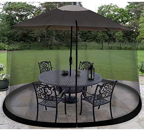 kyman Outdoor-Garten-Regenschirm Ihr Sonnenschirm in einen Pavillon Outdoor-Garten Moskito-Cover, Moskito-Bug Insekt Net Mesh Garden für Parasol Pavillon (Größe: 300 cm * 220 cm)