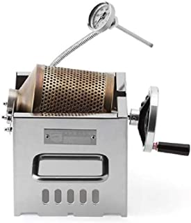 KALDI Mini Size (200~250g) Home Coffee Roaster Including Thermometer -Gas Burner Required (Manual with Sampler & Hopper)