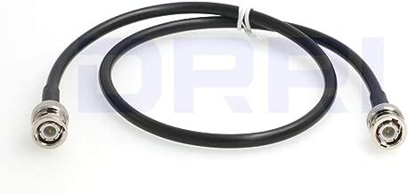 DRRI 6G HD-SDI Video BNC Male to BNC Male RG223 50 Ohm double shielded Coaxial Cable (2M)