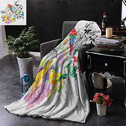 ZSUO Digital Printing Deken Wereld Beroemde Stad Frankrijk Toeristische Pictogrammen Wijn Koffie Kaas Bakkerij Handgetekende Print Gewogen voor Volwassenen Kinderen, Beter Diepere Slaap