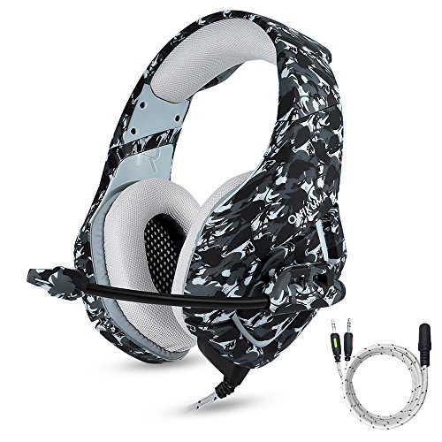 ONIKUMA Gaming Headset with Mic for New Xbox One, PS4, Nintendo Switch, Over Ear 3.5mm Stereo Sound Headphones with Mic Noise Isolating for iPhone, Ipad, PC, Laptop