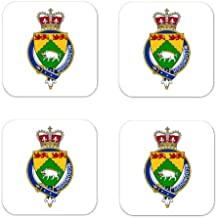 Mcdonough Ireland Family Crest Square Coasters Coat of Arms Coasters - Set of 4