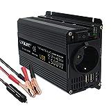 Cantonape 750w/1500w inversor de corriente 12v 220v con puerto usb con ac tomas y encendedor convertidor para automóviles