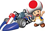 5 INCH Red Toad Super Mario Wii Kart Removable Wall Decal Sticker Art Nintendo Home Decor - 5 by 3 1/4 inches