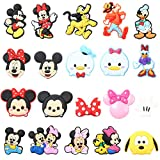CY2SIDE 20PCS Mickey Shoe Charm for Crocs, Mickey Family Shoe Decoration Charm for Kids Clogs, Minnie Bracelet Wristband Charms for Toddlers, Clog Decor for Girls Boys Slip-On, Treasure Toy for Party