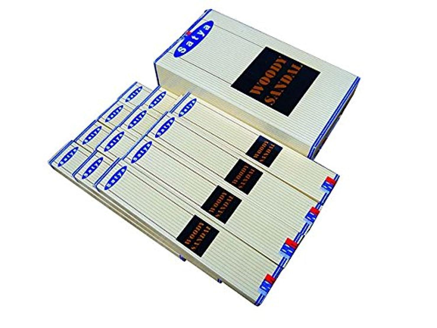 不道徳巻き取り楕円形SATYA(サチャ) ウッディサンダル香 スティック WOODYSANDAL 12箱セット
