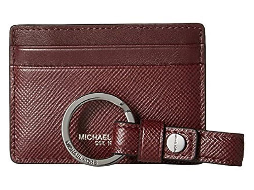 対角線区別する太字Michael Korsレザーカードケース財布とキーFob Set