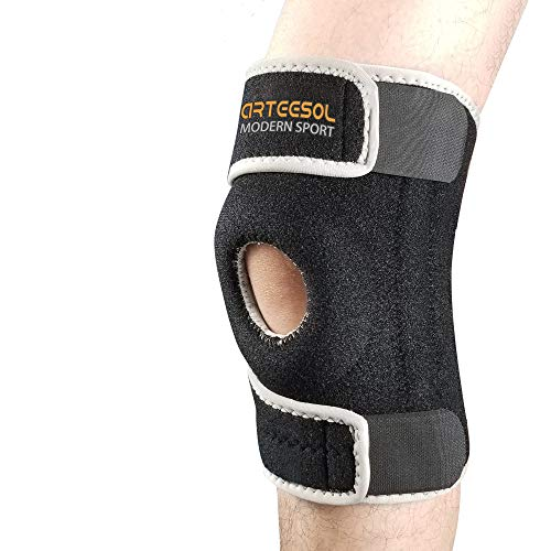 Protection against Reinjury. Ligament Injury Arteesol Knee Support 2 Pack Anti Slip Knee Brace Compression Sleeves Super Elastic Breathable for Joint Pain Sports Injury Rehabilitation Arthritis