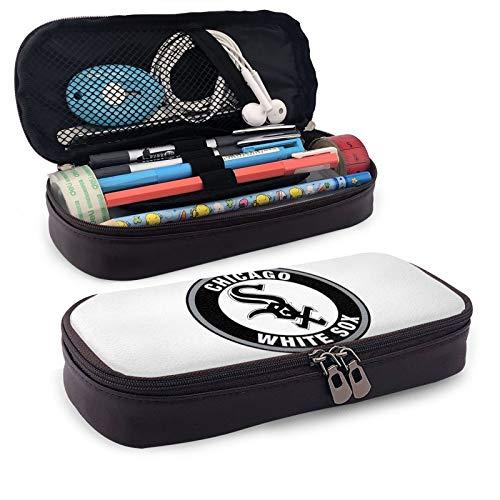 Haz clic para obtener una vista ampliada Ch-ICA-Go W-Hite S-Ox - Estuche para lápices, bolsa de lápices de artículos de la Biblia Studey, bolsa grande para lápices, suministros escolares