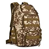 Mochila de Asalto Impermeable 40L Hombres Mujeres Camo Tactical Outdoor Bag 14