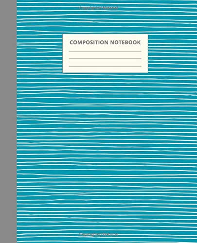 Composition Notebook: Wide Rule Primary Composition Notebook for Kids Grade K-2 | Blank School Journal To Write In | Simple Ocean Blue Striped Cover Design (Aesthetic Notebooks for School, Band 19)