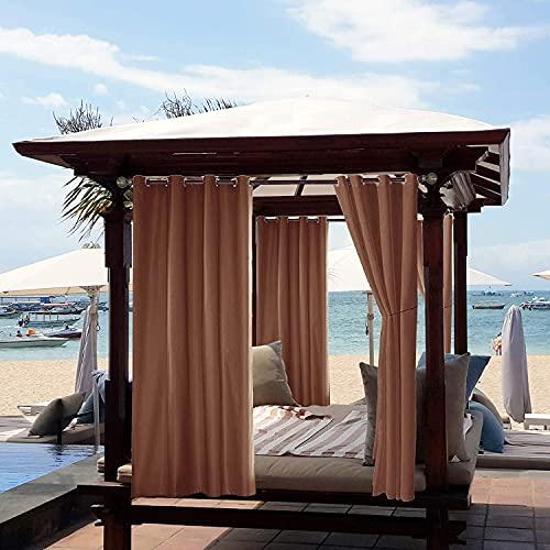 Cortinas opacas impermeables al aire libre, cortinas para interiores y exteriores, para...