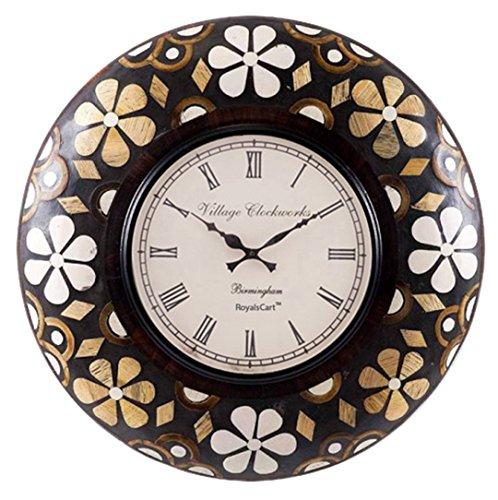 RoyalsCart Floral Painting Analog Wall Clock, Multi