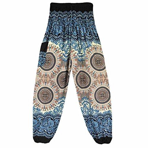 Venmo Hombres Mujeres tailandesas Pantalones de harén Festival Hippy