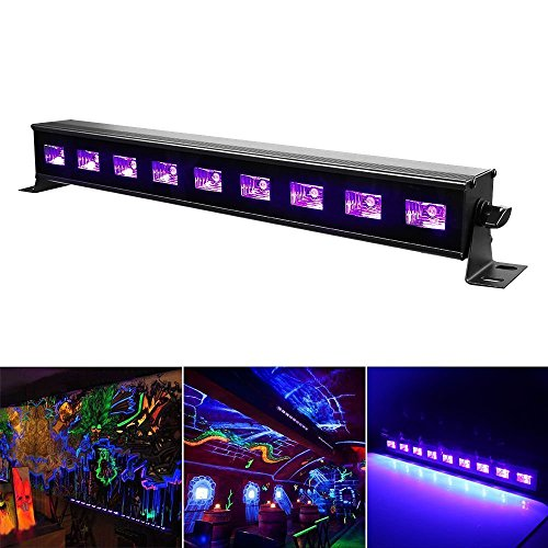 Black Light, JUDYelc 27W 9 LED UV Bar Glow in the Dark Party Supplies for Christmas Blacklight Party Club Show Birthday Wedding DJ Stage Lighting