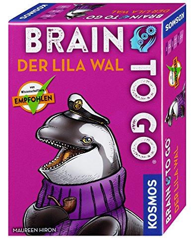 KOSMOS 690861 - Brain to go - Der lila Wal, Spielend das Gehirn trainieren mit Denksport für zwischendurch. Merkspiel, Gesellschaftsspiel für 1 - 5 Spieler ab 8 - 99 Jahre, einfache Regeln