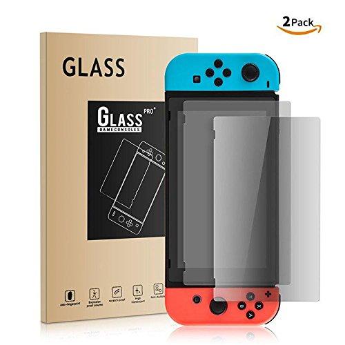 Athelain Nintendo Switch Protector de Pantalla – 2 Unidades Cristal Vidrio Templado 9H Dureza Screen…