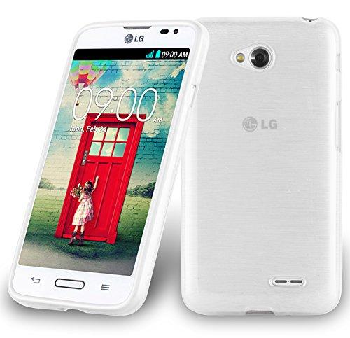Cadorabo Funda para LG L70 (1.SIM) en Plata - Cubierta Proteccíon de Silicona TPU Delgada e Flexible con Antichoque - Gel Case Cover Carcasa Ligera