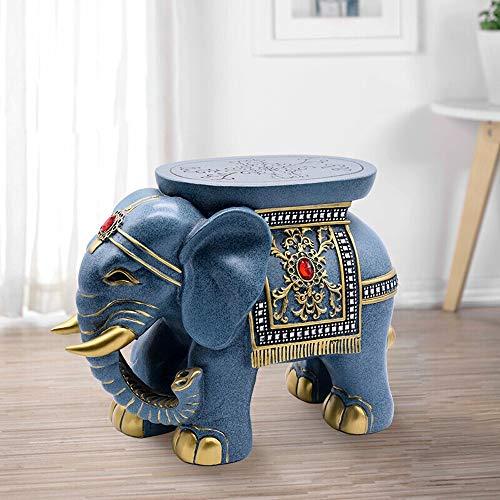 Ouqian-KT Tierhocker für Kinder Schuhschrank amerikanische Tür Wohn Hocker Tier Wohnzimmer Teetisch Hocker Schuh Ideen Für Entryway Wohnzimmer (Farbe : Blau, Size : 40x17x31cm)