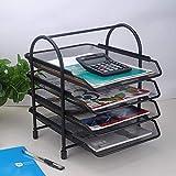 WWXL New Magazine Rack, Desk File Organizer, Desk File Desk Organizer, 4-Keepers Section File...