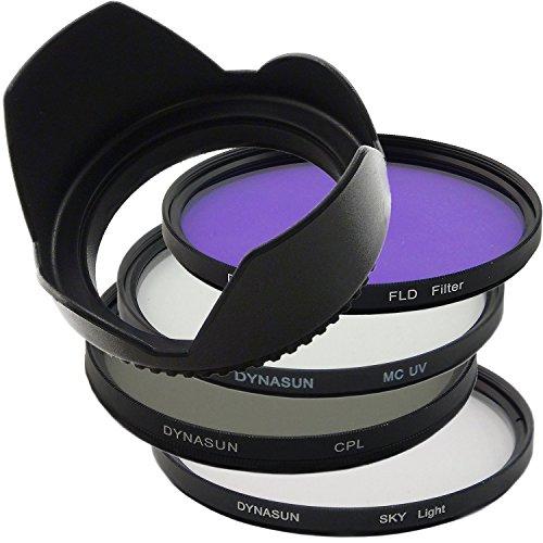 DynaSun Kit Pro 52 mm CPL Circular, Multicapa UV con Filtro polarizador/Fluorescente, Skylight y Parasol