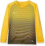 Nike LS Yth Segment IV JSY Maglietta a Maniche Lunghe, Uomo, Uomo, LS Yth Segment IV JSY, Oro (University Gold/Black/Black/White) (Nero, Bianco), M
