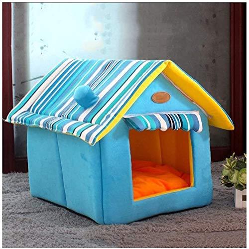 GUOXY Plüsch Cat Hundebett Haustier Bett Stiolle Katze Haus Tragbare Indoor Haustier Bett Hundehaus Weiche Warme Und Bequeme Katze Hund Sweet Roy Travel Bequeme Haustiernest,Groß