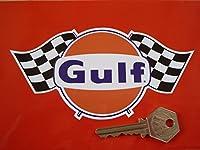 Gulf Chequered Flags Sticker ガルフ オイル ステッカー シール デカール 150mm × 75mm [並行輸入品]