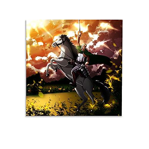 SDSD Pangoo Art Giapponese Anime Poster Decorativo Tela Tela Wall Art Soggiorno Poster Camera da Letto 40 x 40 cm