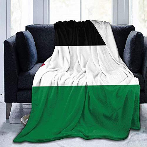 """Mantas,Bandera De Palestina Mantas De Lana para Sofá De Viaje De Oficina En Casa,Cálida Y Cómoda Manta De Tiro,Colcha Versátil Súper Suave 80"""" X60"""