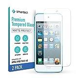 smartect Cristal Templado para Móvil Apple iPod Touch 7G / 6G / 5G [2x MATE] - Protector de pantalla 9H - Diseño ultrafino - Instalación sin burbujas - Anti-huella