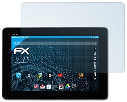 atFolix Schutzfolie kompatibel mit Asus MeMO Pad FHD 10 Folie, ultraklare FX Bildschirmschutzfolie (2X)