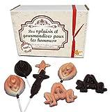 MAXI COFFRET CADEAU CHOCOLAT BOX GOURMANDE - CHOCOLAT ARTISANAL - COFFRET CADEAU CHOCOLAT (Version sexy pour homme) - version sexe