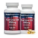 Olio di fegato di merluzzo 550 mg - 360 capsule - 6 mesi di trattamento - SimplySupplements