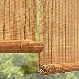 FACC Tenda a Rullo in Bamboo, Tende Bambu per Esterno, Tenda a Pacchetto in bambù per Interni, Tende a Rullo Filtranti Oscuranti in Legno, per Interni/Esterni, Personalizzabile