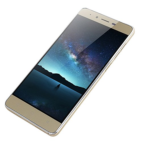 "Unlocked Smartphone,2019 New 5.0"" Ultrathin Android 5.1 Quad-Core 512MB+4GB GSM 3G WiFi Dual SIM with Camera Mobile Phone Cell Phone (Gold)"