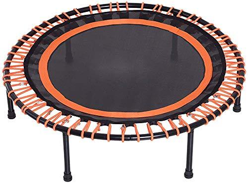 Trampolín de jardín, trampolín de fitness, adecuado para familias, oficina, gimnasio y jardín,Black orange