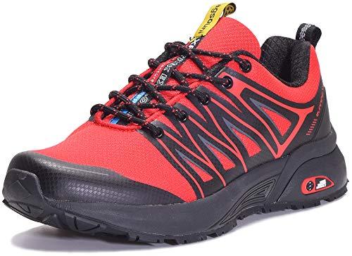 Eagsouni Laufschuhe Herren Damen Traillaufschuhe Sportschuhe Turnschuhe Sneakers Schuhe für Outdoor Fitnessschuhe Joggingschuhe Straßenlaufschuhe, Rot D, 42 EU