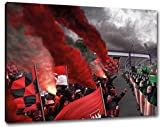 UltrasNürnberg Fans Format: 60x40, Bild auf Leinwand XL,