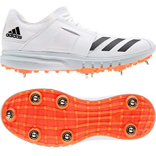 Adidas Howzat Cricket-Schuhe zum Laufen von Nägeln, SS20, Weiß - weiß - Größe: 46 EU