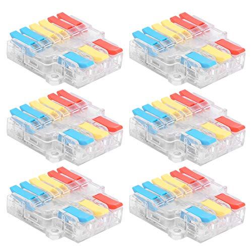 Juego de conectores eléctricos aislados de 10 piezas, conectores de crimpado, LT-636, terminales de crimpado eléctrico de bloqueo escocés de voltaje aislado surtido de 0,5-6,0 mm²,