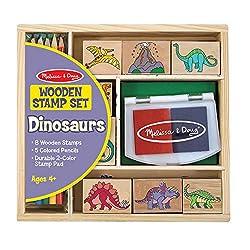 3. Melissa and Doug Dinosaur Stamp Set