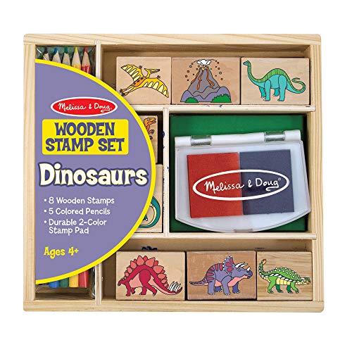 Melissa & Doug |Tampons pour enfants | Jeu de timbres en bois | Dinosaures