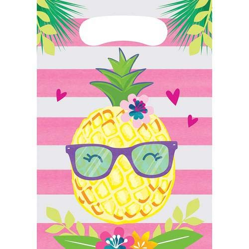 Creative Converting Pineapple and friends Party Favor, 0.1 x 7 x 12, Multicolor