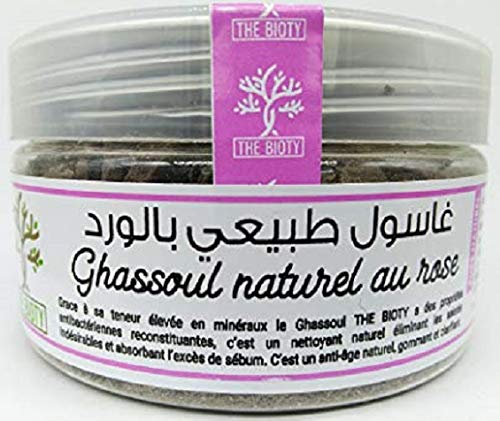 Rhassoul de Visage - Argile à la rose pour nettoyage naturel de Visage et Peau - Secret beauté marocain 150 G (150 G) Ghassoul ou Rassoul
