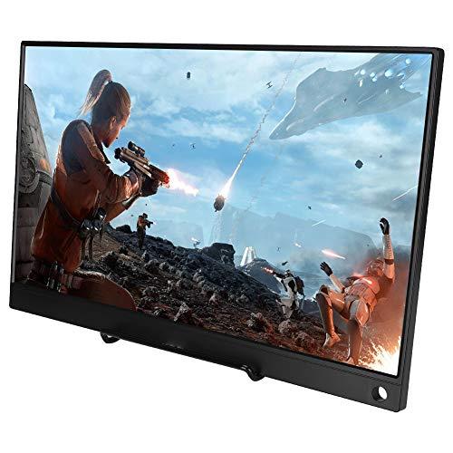 Monitor Portátil, 15,6 Pulgadas HD 1920x1080P Tipo-C Portátil para una Conexión de Cable Monitor para HDMI/NS/Xbox / PS4 / PC, Etc.