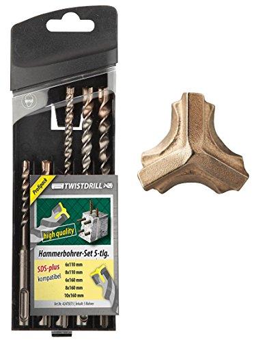 Twist Drill Punte Per Trapano demolitore SDS Plus set di 5pezzi 3fori di Schneider fino a 1500