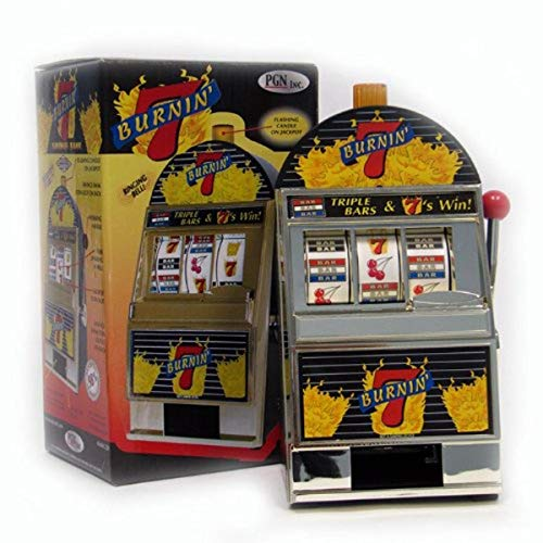 Trademark Global Burning 7#039s Slot Machine Bank with Spinning Reels