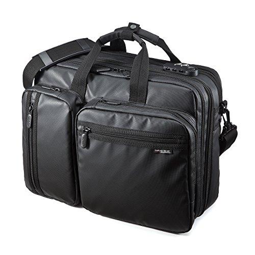 SANWA (Japan Brand 15.6 inch Laptop Computer & Tablet Bag, 20L Expandable Business Briefcases, Combination Lock, Water Resistance,Handbag Shoulder Large Travel Backpack(for MacBook Dell HP Men Women)